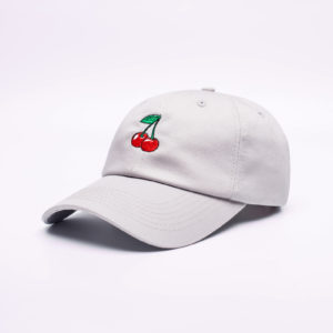 Кепка DAD HAT CHERRY белая