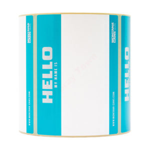 Sticker Pack Montana Hello My Name Is Roll 500pcs - Turquoise
