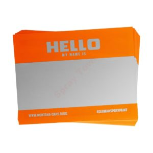 Montana Hello My Name Is - Neon Orange 100pcs