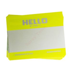 Montana Hello my name is - Neon Yellow 100pcs