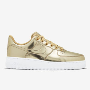Кроссовки женские Nike Air Force Low Liquid Metal Gold