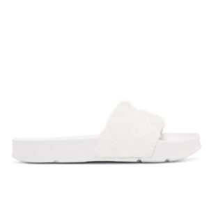 Тапки женские Fila Faux Fur Pool Slide Sandals White