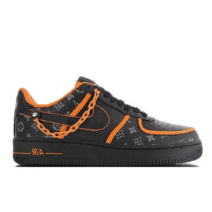 Кроссовки мужские Nike Air Force 1 Low Black Orange x LOUIS VUITTON